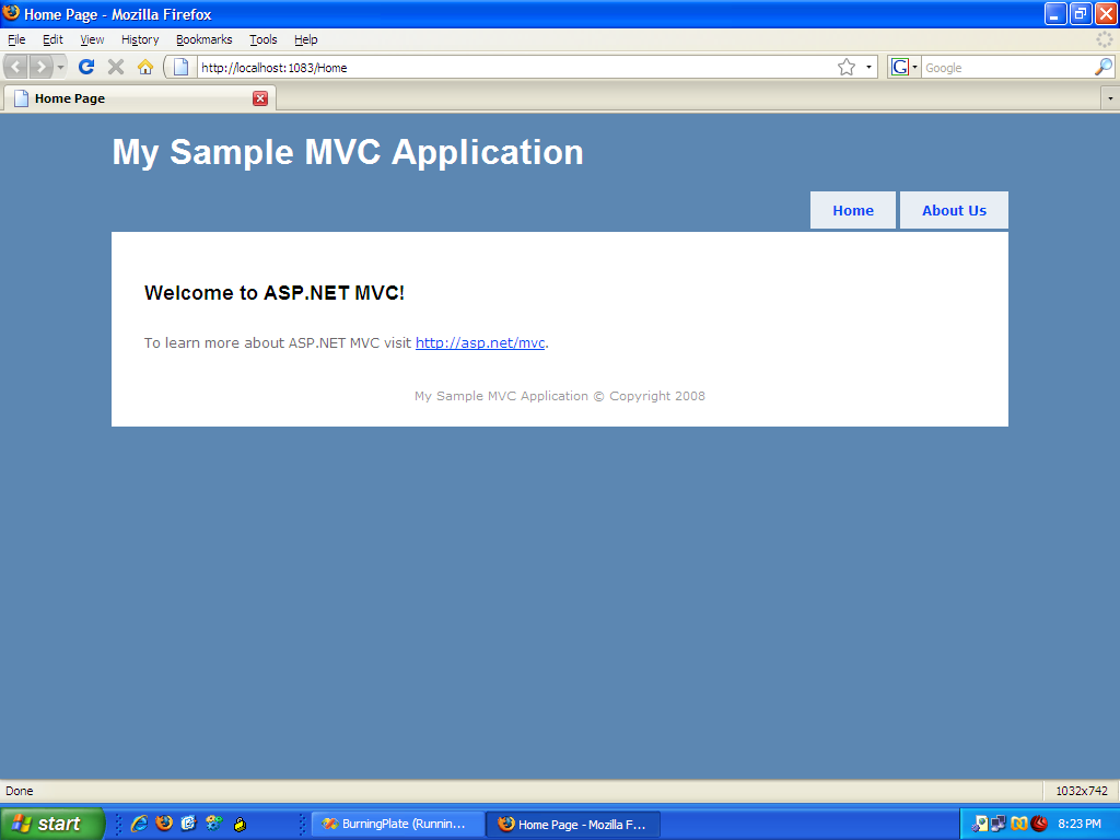 aspnetmvc run
