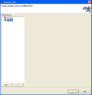 Figure 2: External Tools configuration window